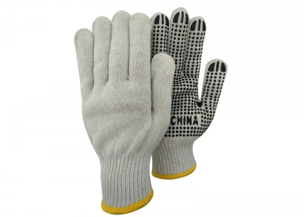 single side PVC dotted gloves
