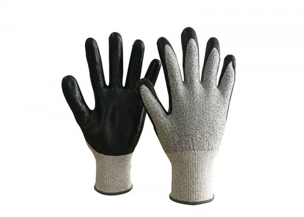 Anti Cut 5 LEVEL nitrile coated glove