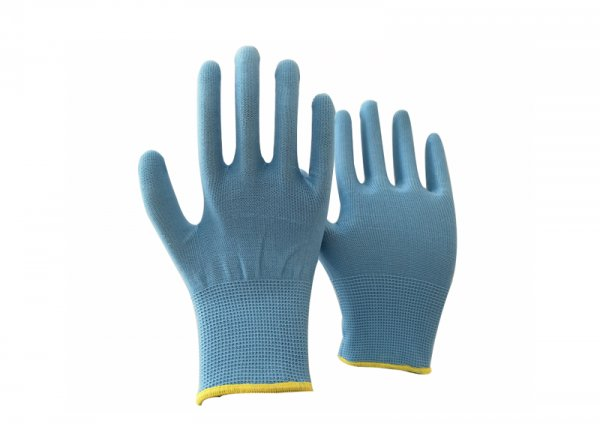 13 gauge blue polyester knitted glove