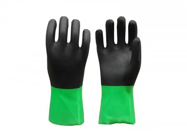 pvc double color glove