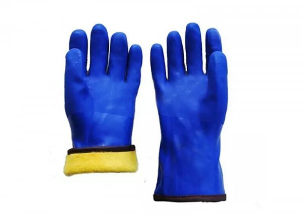 PVC fleeced warm winter Gloves