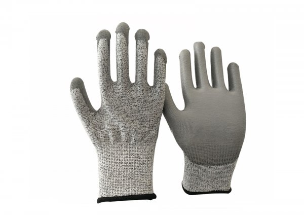 Anti 5 pu coated glove