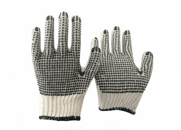 pvc double side dotted glove