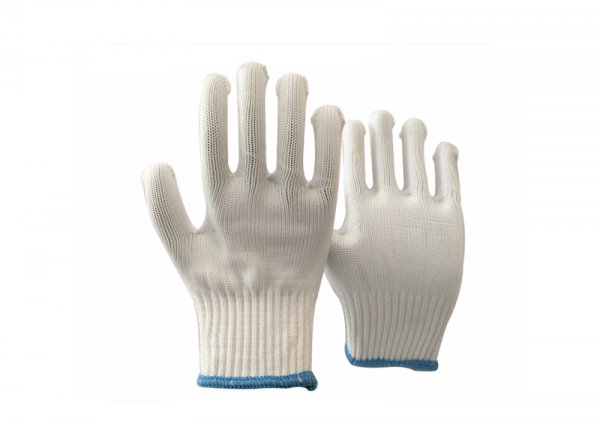 10gauge white polyester glove