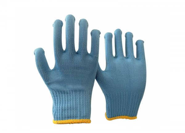 10gauge blue polyester glove