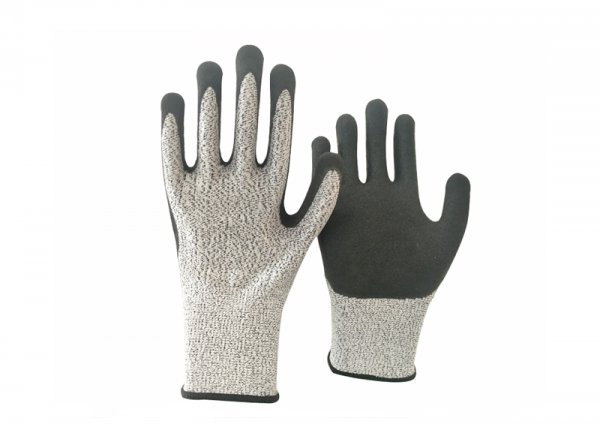 Anti 5 nitrile sandy coated glove