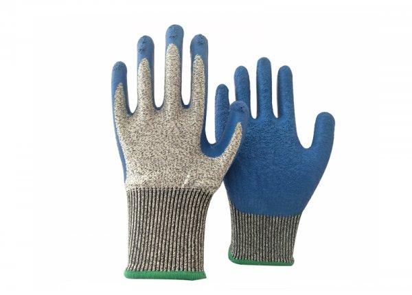 Anti cut 5 latex coated glove