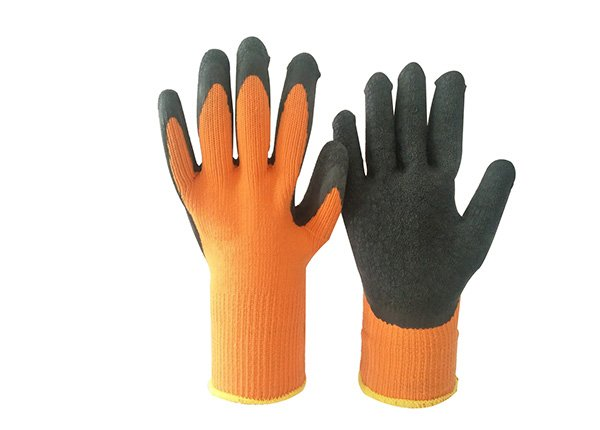 7gauge thermal gripper winter latex coated gloves