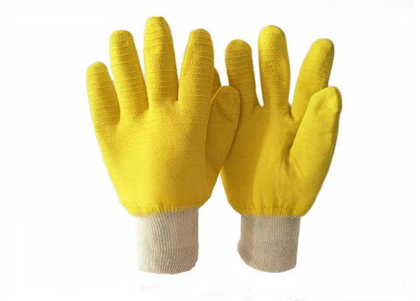 HEAVY DUTY YELLOW LATEX COATED COTTON JERSEY LINER