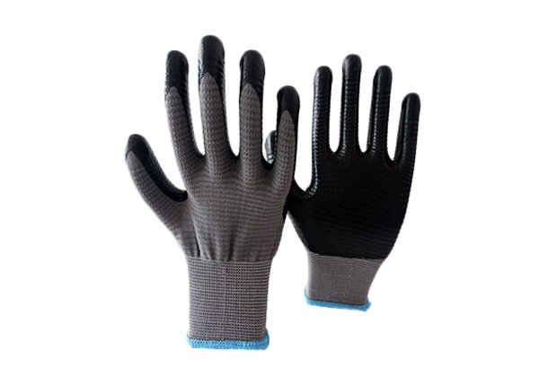 13gauge grey zebra shell nitrile coated gloves