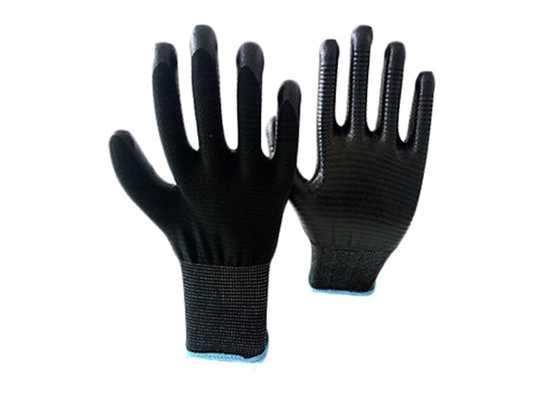13gauge black zebra shell nitrile coated gloves